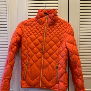 Michael Kors orange down jacket
